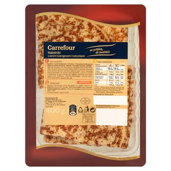 Carrefour Naleśniki z serem twarogowym i rodzynkami 400 g