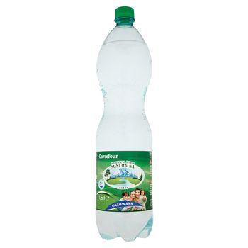 Carrefour Naturalna woda mineralna gazowana 1,5 l