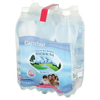 Carrefour Naturalna woda mineralna Sudety lekko gazowana 6 x 1,5 l