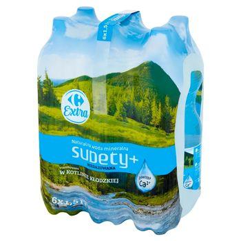 Carrefour Extra Sudety+ Naturalna woda mineralna niegazowana 6 x 1,5 l
