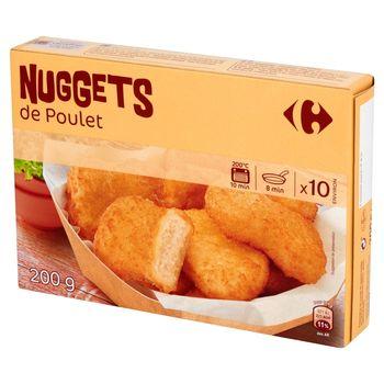 Carrefour Nuggets z kurczaka w panierce 200 g