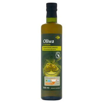 Carrefour Oliwa z oliwek najwyższej jakości z pierwszego tłoczenia 500 ml