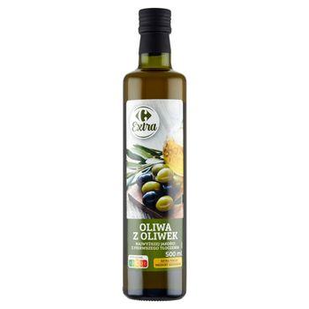 Carrefour Extra Oliwa z oliwek najwyższej jakości z pierwszego tłoczenia 500 ml