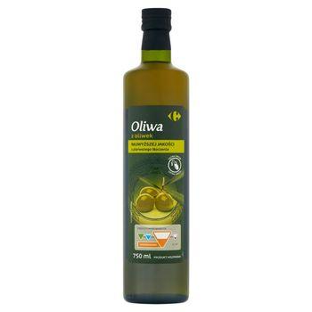 Carrefour Oliwa z oliwek najwyższej jakości z pierwszego tłoczenia 750 ml