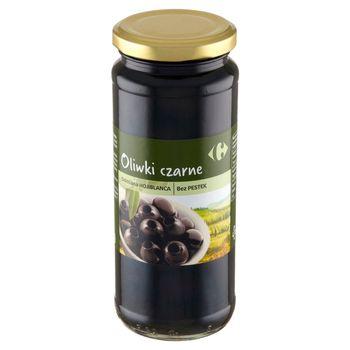 Carrefour Oliwki czarne odmiana Hojiblanca bez pestek 340 g