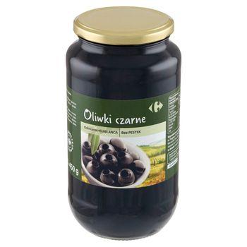 Carrefour Oliwki czarne odmiana Hojiblanca bez pestek 935 g