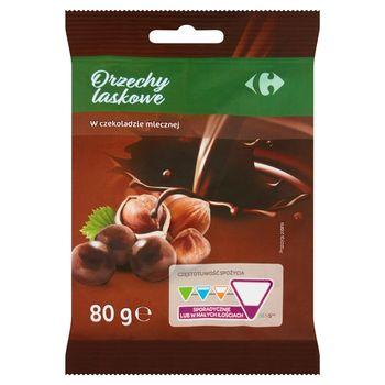 Carrefour Orzechy laskowe w czekoladzie mlecznej 80 g