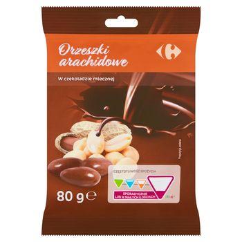 Carrefour Orzeszki arachidowe w czekoladzie mlecznej 80 g