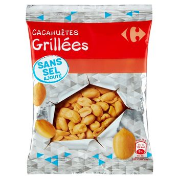 Carrefour Orzeszki ziemne prażone bez dodatku soli 200 g