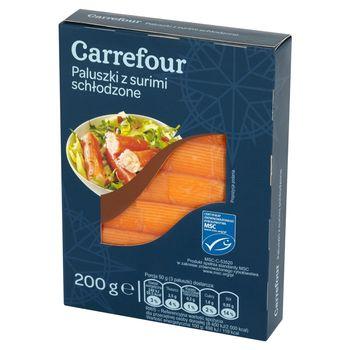 Carrefour Paluszki z surimi schłodzone 200 g (12 sztuk)