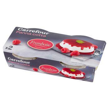 Carrefour Panna Cotta Deser mleczny z sosem malinowym 240 g (2 sztuki)
