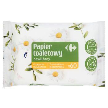 Carrefour Papier toaletowy nawilżany 60 sztuk