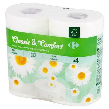 Carrefour Papier toaletowy o zapachu rumianku 4 rolki