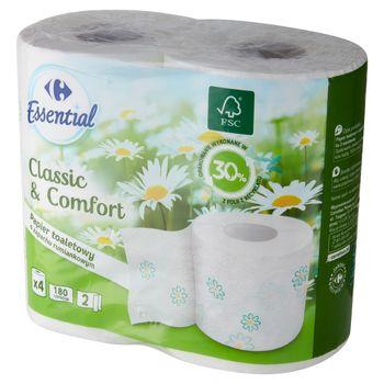 Carrefour Essential Papier toaletowy o zapachu rumiankowym 4 rolki