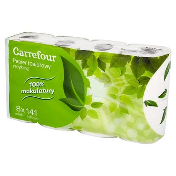 Carrefour Papier toaletowy recykling 8 rolek