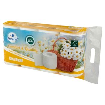 Carrefour Essential Papier toaletowy rumiankowy 8 rolek