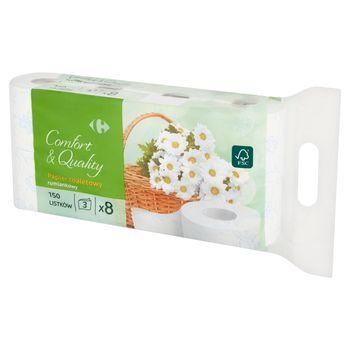 Carrefour Papier toaletowy rumiankowy 8 rolek