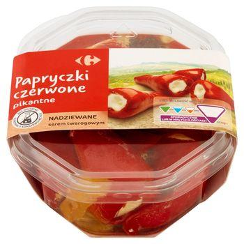 Carrefour Papryczki czerwone pikantne nadziewane serem twarogowym 250 g