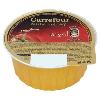 Carrefour Pasztet drobiowy z pomidorami 131 g