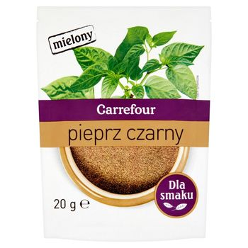 Carrefour Pieprz czarny mielony 20 g