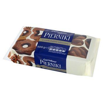 Carrefour Pierniki w czekoladzie mlecznej 500 g