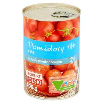 Carrefour Pomidory całe w soku pomidorowym 400 g