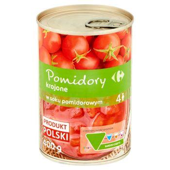 Carrefour Pomidory krojone w soku pomidorowym 400 g