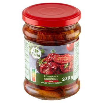 Carrefour Extra Pomidory suszone całe w oleju z przyprawami 230 g