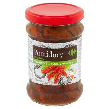 Carrefour Pomidory suszone w paskach w oleju z przyprawami 230 g