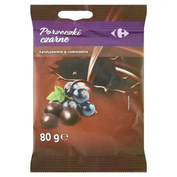Carrefour Porzeczki czarne kandyzowane w czekoladzie 80 g
