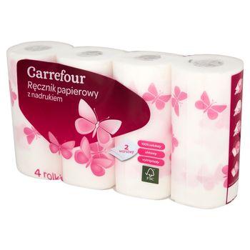 Carrefour Ręcznik papierowy z nadrukiem 4 rolki