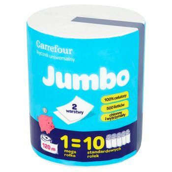 Carrefour Ręcznik uniwersalny Jumbo 500 listków