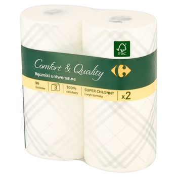 Carrefour Ręczniki uniwersalne 2 rolki