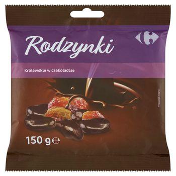Carrefour Rodzynki królewskie w czekoladzie 150 g