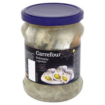 Carrefour Rolmopsy z ogórkiem w zalewie octowej 450 g