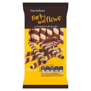 Carrefour Rurki waflowe z kremem kakaowym 280 g