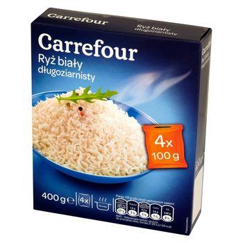 Carrefour Ryż biały długoziarnisty 400 g (4 torebki)