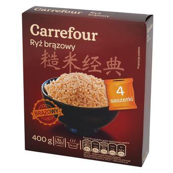 Carrefour Ryż brązowy 400 g (4 saszetki)