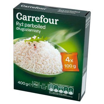 Carrefour Ryż parboiled długoziarnisty 400 g (4 torebki)