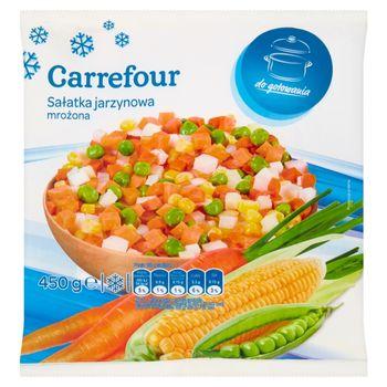 Carrefour Sałatka jarzynowa mrożona 450 g