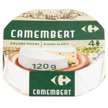 Carrefour Ser Camembert zielony pieprz 120 g