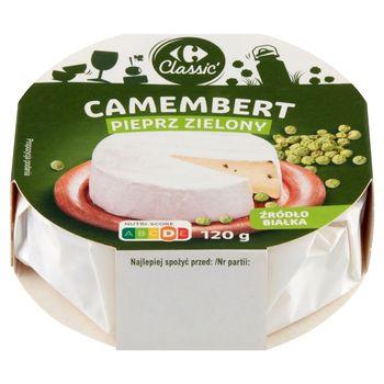 Carrefour Classic Ser camembert pieprz zielony 120 g