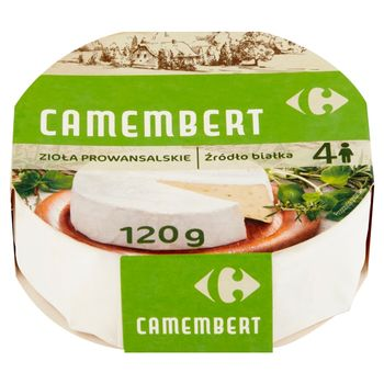 Carrefour Ser Camembert zioła prowansalskie 120 g