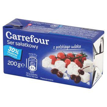 Carrefour Ser sałatkowy 30% tłuszczu w suchej masie 200 g
