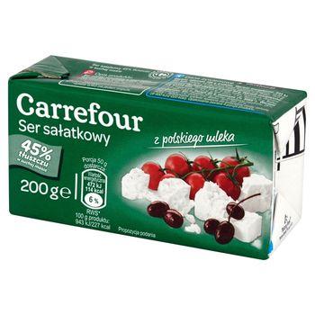 Carrefour Ser sałatkowy 45% tłuszczu w suchej masie 200 g