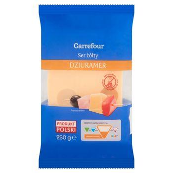 Carrefour Ser żółty Dziuramer 250 g