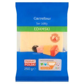 Carrefour Ser żółty edamski 250 g
