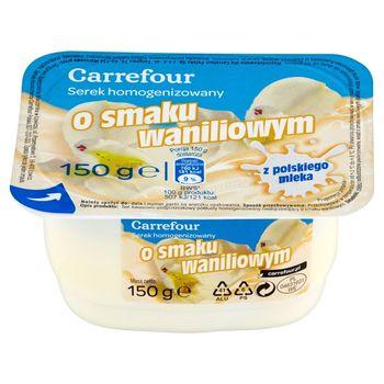 Carrefour Serek homogenizowany o smaku waniliowym 150 g