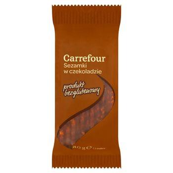 Carrefour Sezamki w czekoladzie 40 g (3 listki)