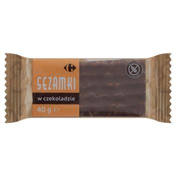 Carrefour Sezamki w czekoladzie 40 g